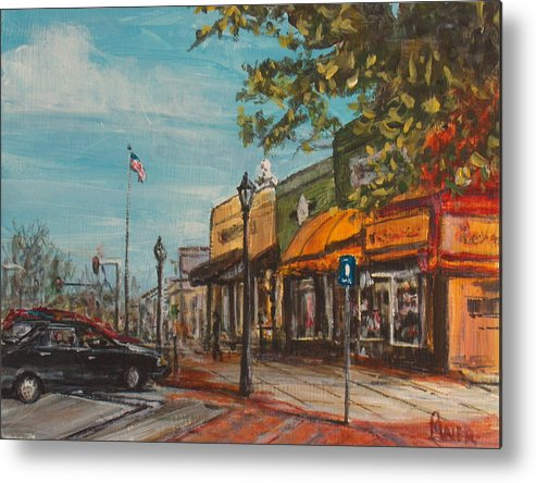 Cityscape Metal Print featuring the painting Downtown by Pete Maier