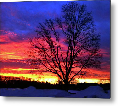 Sunrise Metal Print featuring the photograph Driveby Shooting No. 8 - Valentine's Sunrise by Christine Segalas