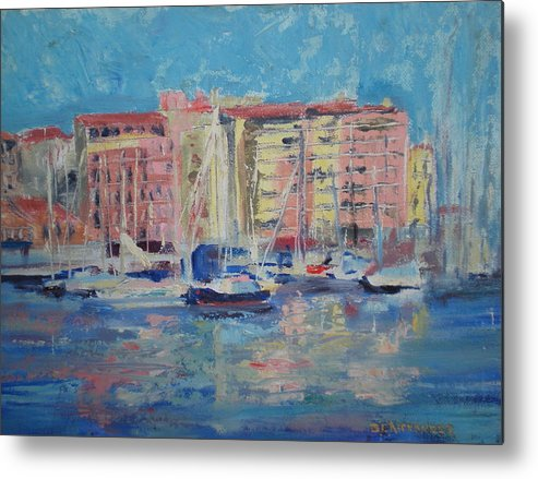 Meditrainean Metal Print featuring the painting Du Port by Bryan Alexander