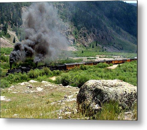 Railroad Metal Print featuring the photograph Durango Silverton Railway Full Steam Ahead by Carol Milisen