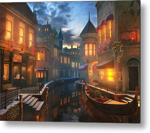 Venice Metal Print featuring the painting Enchanted Waters by Joel Payne