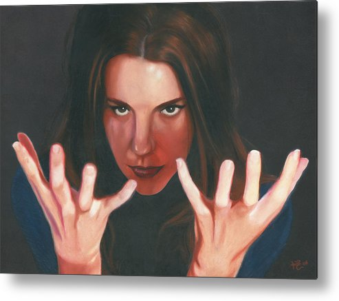 Dramatic Metal Print featuring the painting Entrancing by Kevin Clark