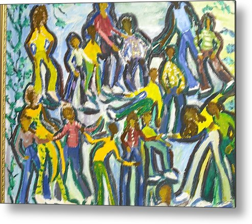 Family Metal Print featuring the painting Family Reunion by BJ Abrams