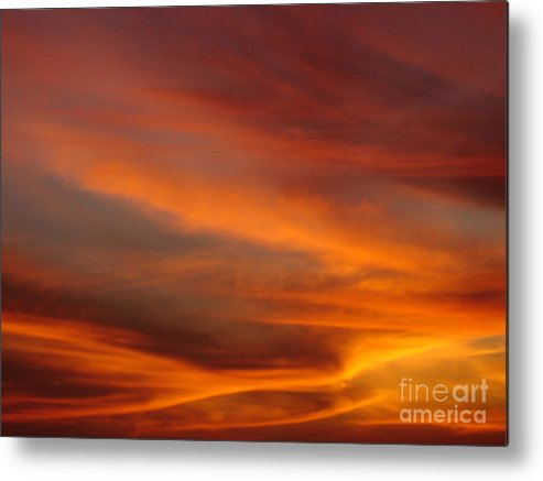 Sunsets Metal Print featuring the photograph Fire in the Sky 1 by Chad Natti