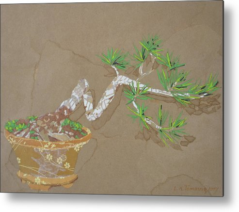 Banzai Tree Metal Print featuring the painting For Inge by Leah Tomaino