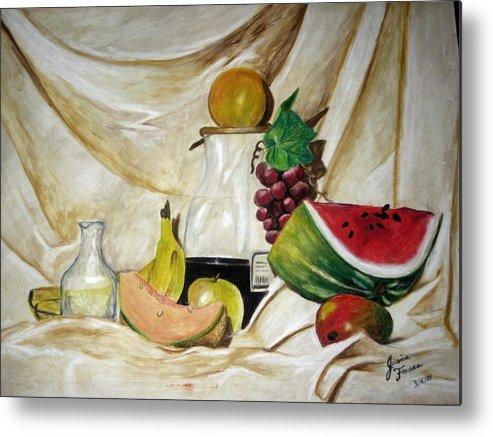 Fruit Metal Print featuring the painting Fruta by Jessica De la Torre