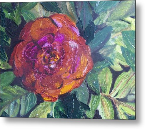 Flower Metal Print featuring the painting Full Bloom by Pamela Wilson