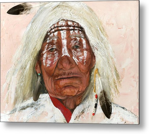 Southwest Art Metal Print featuring the painting Ghost Shaman by J W Baker
