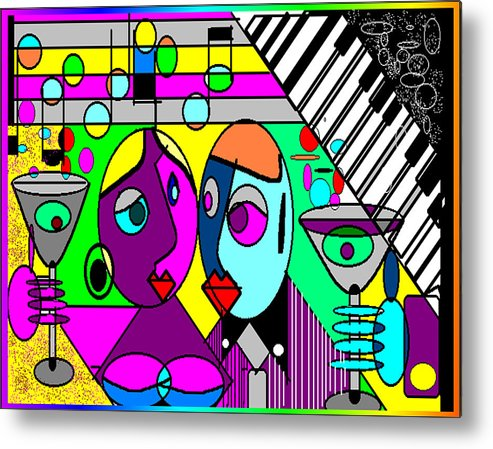 Music Metal Print featuring the digital art Good Friends by George Pasini