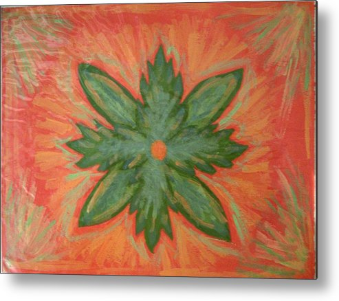 Flower Metal Print featuring the painting Green Dream by Laura Lillo