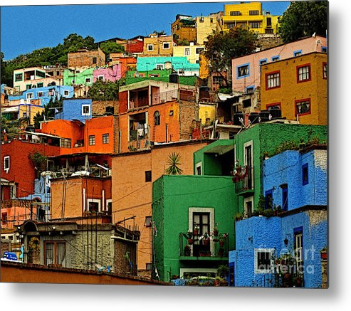 Darian Day Metal Print featuring the photograph Guanajuato Hillside 1 by Mexicolors Art Photography