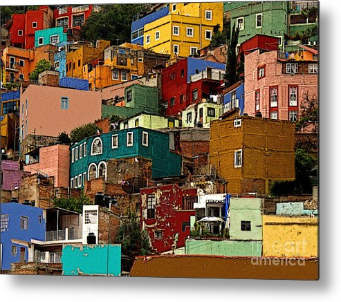 Darian Day Metal Print featuring the photograph Guanajuato Hillside 4 by Mexicolors Art Photography