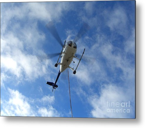 Helicopter Metal Print featuring the photograph Helicopter Hover by Jim Thomson