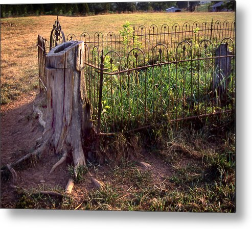 Metal Print featuring the photograph Hogeye Grave Site by Curtis J Neeley Jr