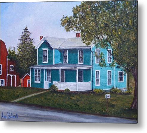 Seward House Metal Print featuring the painting House in Seward by Anne Kushnick