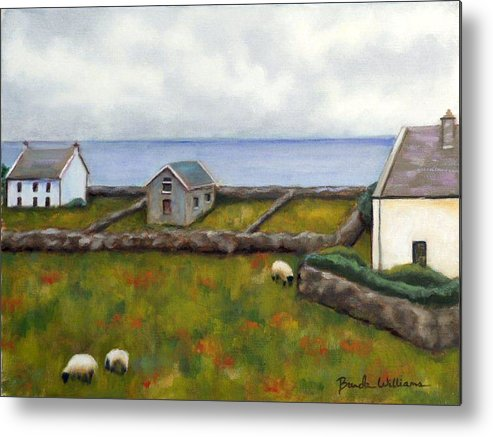 Oil Metal Print featuring the painting Inishmore Island by Brenda Williams