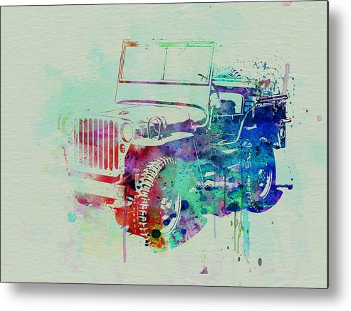 Willis Metal Print featuring the painting Jeep Willis by Naxart Studio