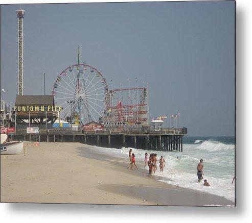 Beach Metal Print featuring the photograph Jersey Shore Summer by Jennifer Sweet