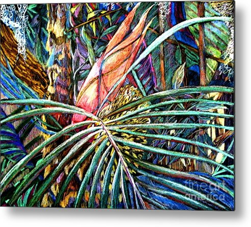 Palm Metal Print featuring the drawing Jungle Fever by Mindy Newman