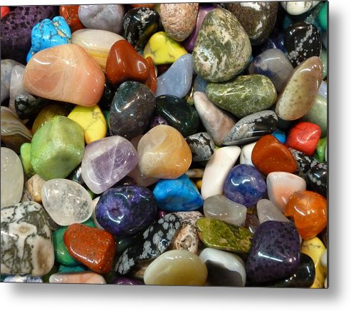 Stones Metal Print featuring the photograph Just Stoned by Florene Welebny