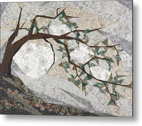 Tree Metal Print featuring the tapestry - textile Krummholz by Linda Beach