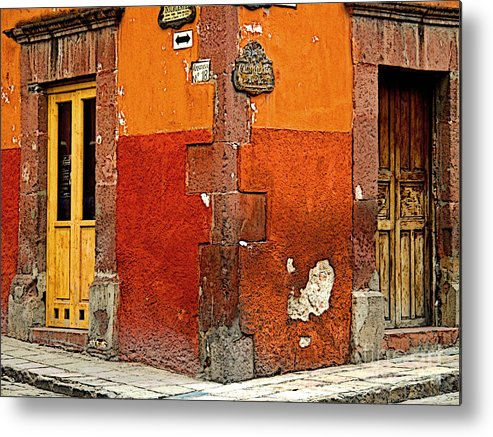 Darian Day Metal Print featuring the photograph La Esquina 2 by Mexicolors Art Photography