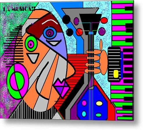 Music Metal Print featuring the digital art La Musica by George Pasini