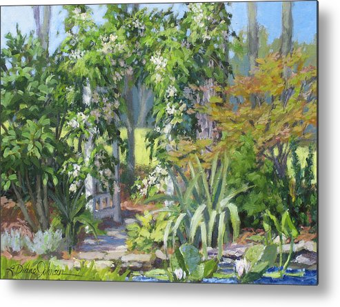 Lush Garden Arbor Metal Print featuring the painting Labor Of Love by L Diane Johnson