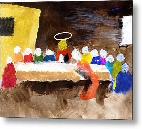 Jesus Metal Print featuring the mixed media LastSupper by Curtis J Neeley Jr