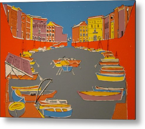 Metal Print featuring the painting Leghorn Canal by Biagio Civale