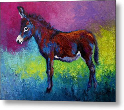 Burro Metal Print featuring the painting Little Jenny by Marion Rose