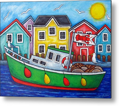Lisa Lorenz Metal Print featuring the painting Maritime Special by Lisa Lorenz