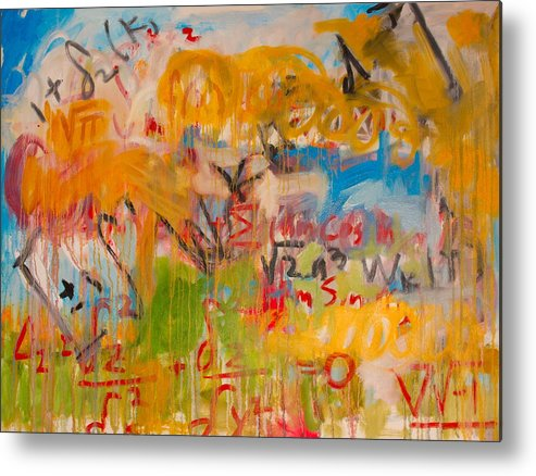 Math Metal Print featuring the painting Math II by Michael Henderson