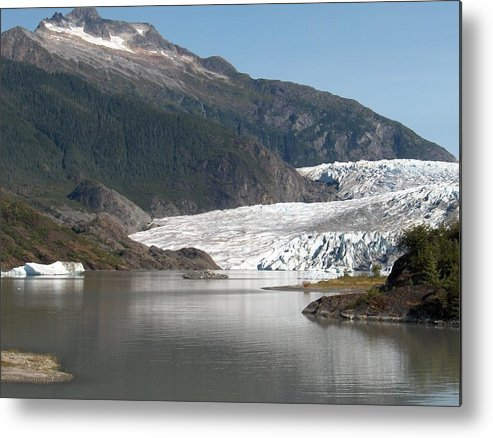 Mendenhall Metal Print featuring the photograph Mendenhall Glacier Alaska by Janet Hall