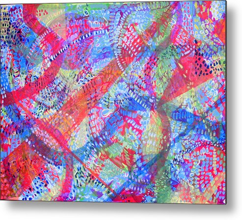 Dots Metal Print featuring the painting Microcosm II by Rollin Kocsis