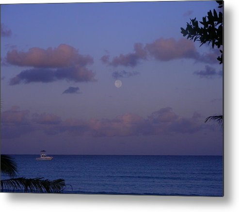Nature Metal Print featuring the photograph Morning Moon by Peter McIntosh