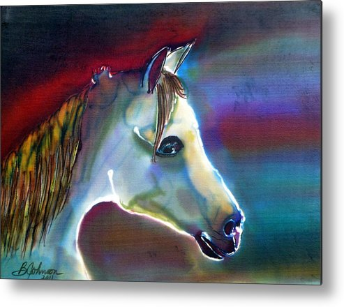 Horse Metal Print featuring the painting Mystical by Beverly Johnson
