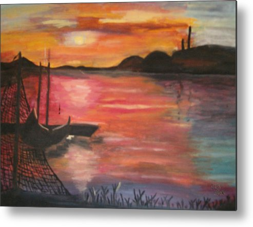 Seascape Metal Print featuring the painting Natures Glory by Mikki Alhart