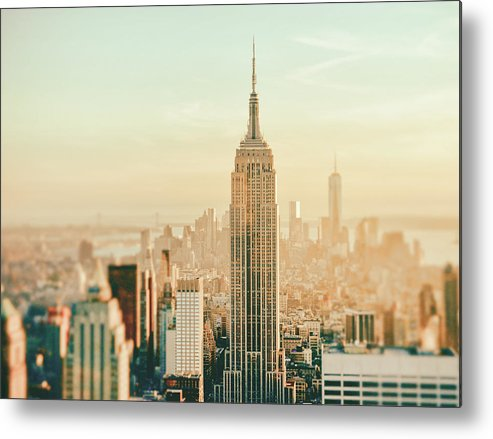 Nyc Metal Print featuring the photograph New York City - Skyline Dream by Vivienne Gucwa