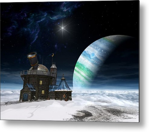 Space Metal Print featuring the digital art Observatory by Cynthia Decker