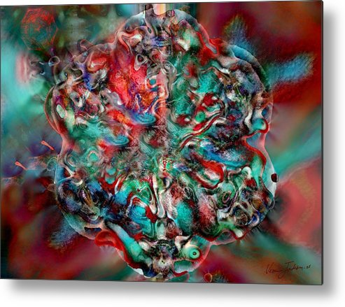 Heart Passion Life Metal Print featuring the digital art Open Heart by Veronica Jackson