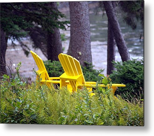 Yellow Metal Print featuring the photograph Peaceful by Judy Waller