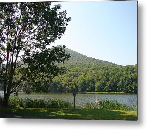 Mountains Metal Print featuring the photograph Peaks of Otter 1 by Cheryl Viar