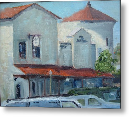 Beach City Metal Print featuring the painting Plaza Del Mar by Bryan Alexander