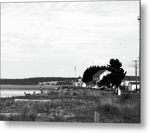 Hansville Washington Metal Print featuring the photograph Point No Point Light by Marti Green