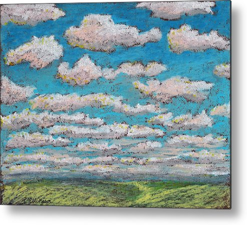 Landscape Metal Print featuring the painting Prairie View by Rodger Ellingson