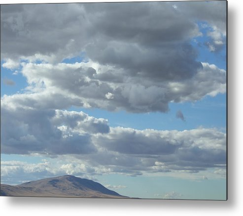 Cloud Metal Print featuring the photograph Rattlesnake Mountain Cloudscape by Ruth Stromswold