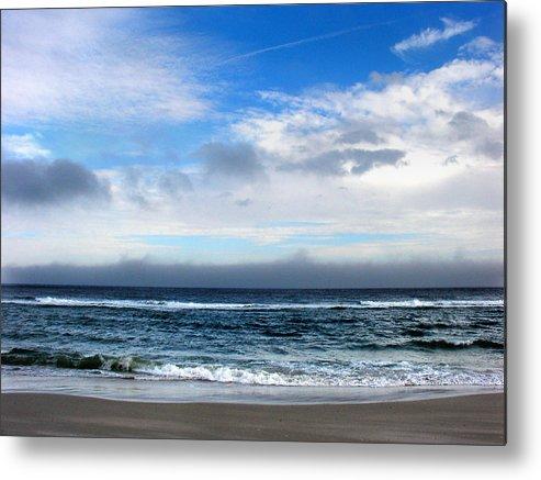Seascape Metal Print featuring the photograph Receding Fog Seascape by Steve Karol