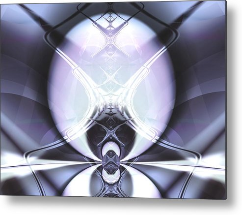 Digital Art Metal Print featuring the digital art Reflecting Gateway by Frederic Durville