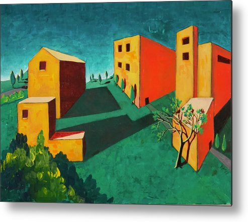 Villa Metal Print featuring the painting Remembering The Villa by Rollin Kocsis